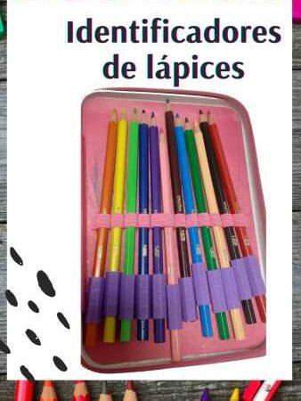 Identificadores de lápices personalizados x12